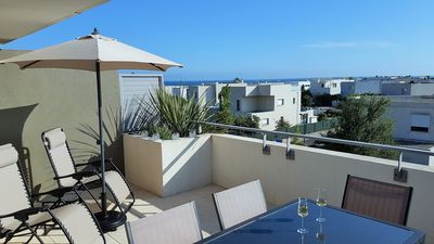 Photo for 63 M², 2 CHAMBRES, TERRASSE 20 M², PISCINE, PLAGES A 100M