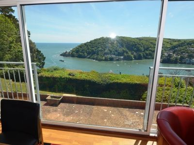 Photo for Beautiful house with phenomenal view of the River Dart, Dartmouth Castle and the sea