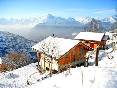 Photo for Vacation home au Bisse in Veysonnaz - 6 persons, 3 bedrooms
