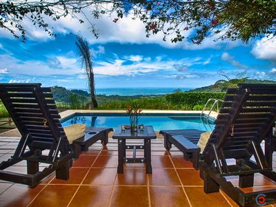 Photo for Panoramic Ocean View, Private Pool, 10-Min Drive To Beach