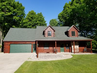 Photo for Spacious Log Cabin By Crystal Mountain Resort, Minutes From Skiing, Golf & More