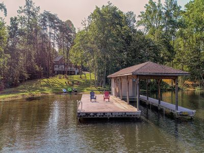 Photo for Lakefront home w/ boat dock, two firepits & a game room - dog friendly!