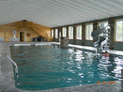 Photo for NEW CABIN! AMAZING! INDOOR POOL! HOT TUB, FIREPLACE, FIRE PIT! Chatt TN 21 miles