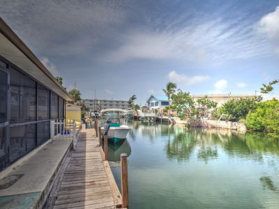 Photo for Waterfront Hideaway- relax keys style on a quiet road backed to a deep canal