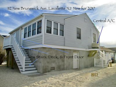 Photo for 2019 NEW Lavallette, 3 Bedroom, Sleeps 8, C-A/C, Wi-Fi, Beach Badges, Parking