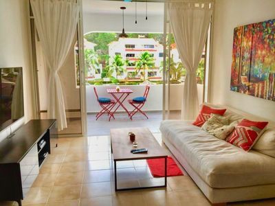 Photo for RENOVATED GUEST FRIENDLY BEAUTIFUL 1 BED-HUGE POOL-BAR-55 INCH TV-TERRACE