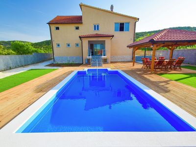 Photo for Modern luxury villa with private pool 12 km from the beach and lively Vodice