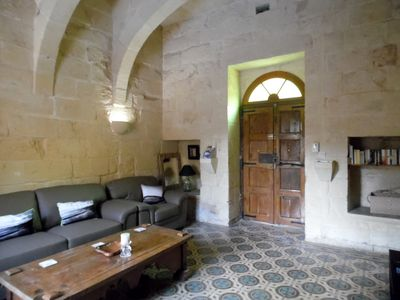 Photo for Beautiful, authentic stone villa with pool in superb location in Xaghra