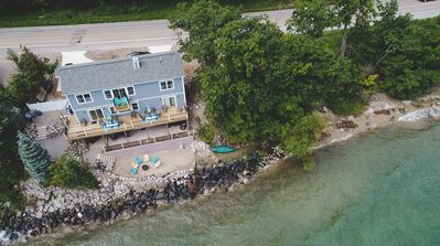 Photo for Spacious, luxury waterfront home on West Bay, air conditioning, fireplace