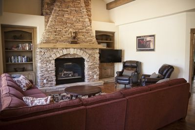 Great Room with HD Smart TV, Gas Fireplace and all new furnishings