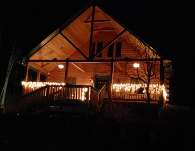 Photo for Wise Old Owl Cabin  5 Star  Sleeps the whole group! 3 baths Call today for Fall!