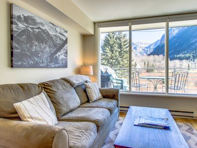 Photo for Contemporary alpine getaway with shared hot tub - walk/shuttle to gondola