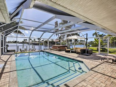 Photo for Grand Cape Coral Home w/Pool, Hot Tub & Dock!