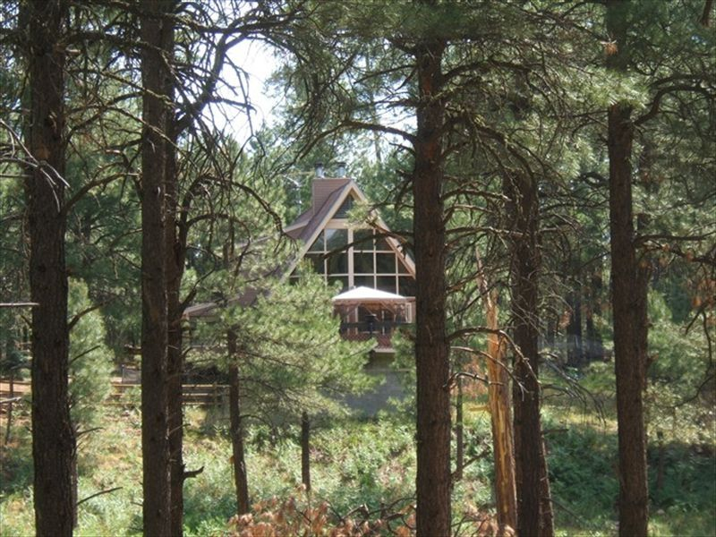Beautiful cabin just 2 hours from phoenix homeaway for Az cabin rentals with hot tub
