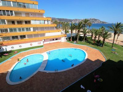 "Photo for Studio apartment right near the ""Platja del Salatar"" in Roses with Pool, Lift, Terrace, Washing machine (1004423)"