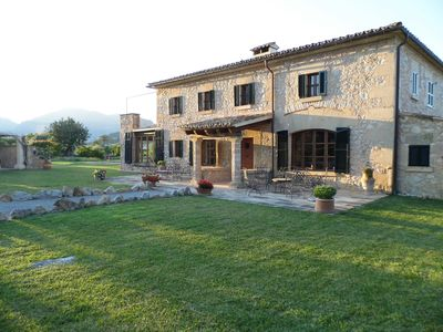 Photo for Lovely old Farmhouse With Pool & Beautiful Mountain Views Close To Pollensa Town