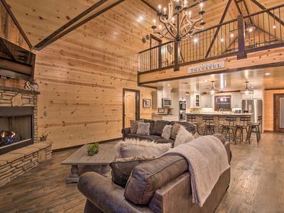 Photo for NEW-Hochatown Cabin: Hot Tub, Fire Pit, Pool Table