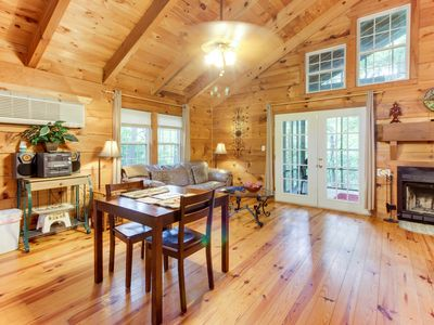 Photo for Dog-friendly mountain cottage w/ hot tub, bedside Jacuzzi, and more!