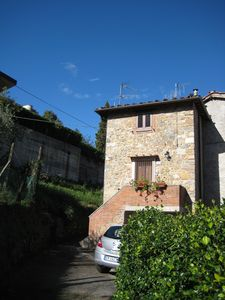 Photo for Traditional Tuscan Stone Village House in the Delightful Village of Valdottavo