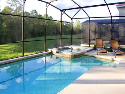Photo for CLOSE TO DISNEY,2 MASTER SUITES, BEAUTIFUL DECOR,PRIVATE POND/CONSERVATION VIEW!