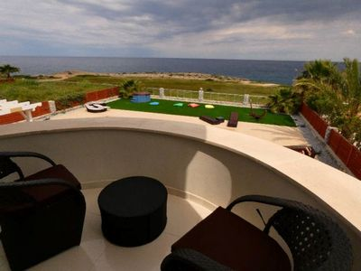 Photo for 4 Bed Luxury villa beach front with massive pool