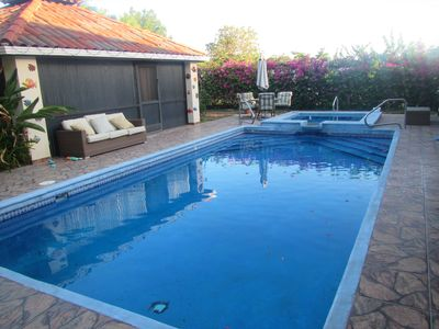 Photo for Private Home with Pool, Walk to the Beach!