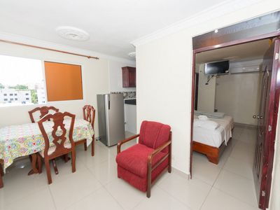Photo for Tropical Island Aparthotel - Design Apartment, 1 Bedroom, Kitchenette - City Views