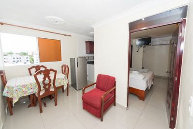 Air conditioning one bedroom Apartment with dining room