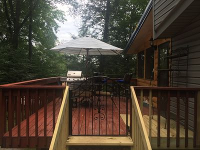 Deck with seating for six and grill