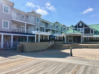 Grand stand area - feet from Blue Surf condos