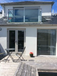 Photo for Spacious & light new detached house with parking & garden in centre of St. Ives