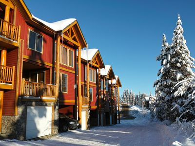 Photo for TOP Ski in/ski out, sleeps 8, private hot tub,8 min from village,3 bedrooms,private Garage