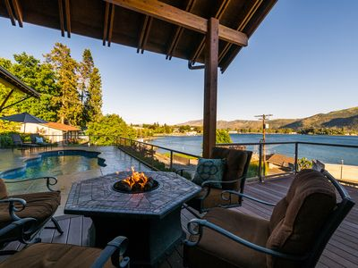 Photo for Lake View Property with Private Pool and Hot Tub Overlooking Manson Bay!