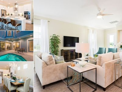 Photo for Luxury Pool Home with Upgrades. Just Minutes to Disney!