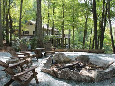 Photo for Heather Heights Cottage - Cozy cabin with a View and Fire Pit, minutes to Boone!