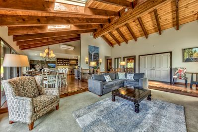 Open, Spacious Living Room with High Ceilings