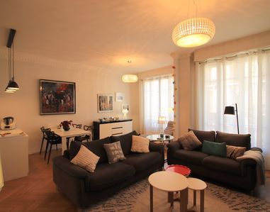 Photo for Joffre: luxurious 2 beds flat, balcony, parking, Nice city center