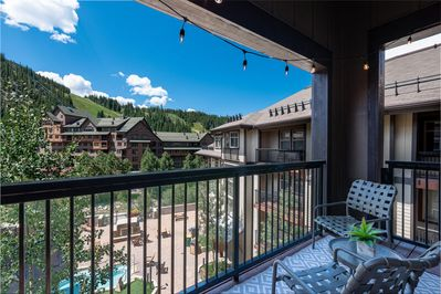 Take a peek at the Fraser Crossing amenity deck and the slopes of the Winter Park Resort