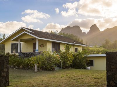 Photo for Hibiscus Beach Cottage, Steps to Anahola Bay, Mountain Views, TVNC#5067