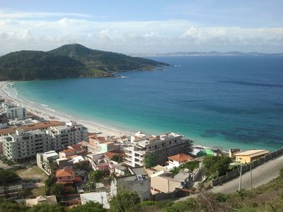At 150 meters from the charming beach, Arraial do Cabo, 2 Qtos w / Air Conditioning