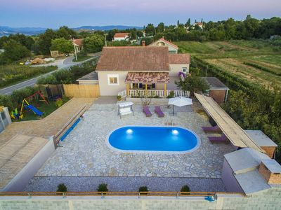 Photo for Charming holiday home with private pool,big roofed terrace, children's play area