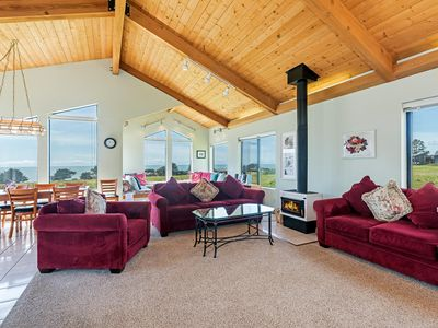 Photo for Dazzling four bedroom, three bathroom private home on the ocean side of the hwy, stunning ocean views