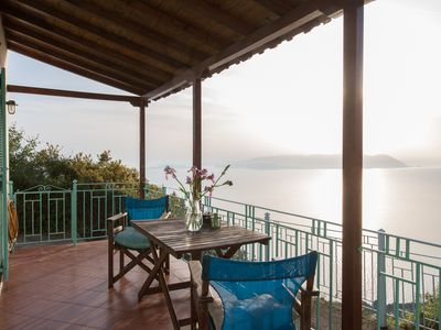 Photo for Clifftop Cottge with spectacular sea views in quiet location