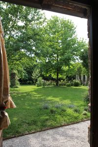 View of the garden from the bedroom