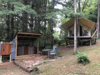 Photo for Creekside Glamping - 20 minutes from downtown Asheville