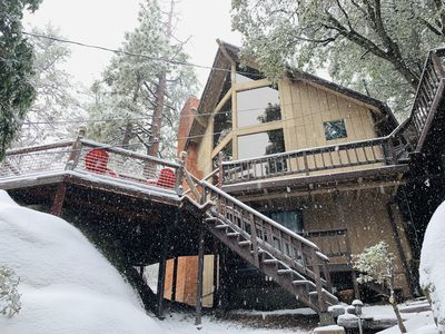 Photo for Rustic Luxury Retreat, 2 King suites, Hot Tub & Theater Room