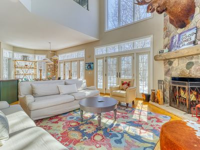 Photo for Four-story home with multiple fireplaces & decks - screened-in porch, firepit!