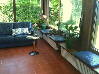 Photo for Elegant and luxury villa with garden, beach , wifi and pool use. Pets allowed