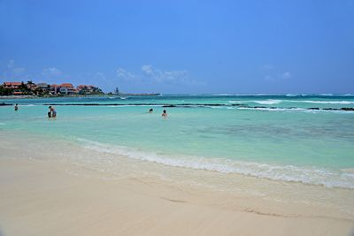 Puerto Aventuras family friendly beach with protected area for the young ones