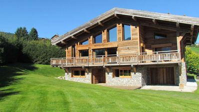Photo for Magnificent chalet with view on Mont Blanc